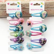 <b>Disney</b> Princess Hair Children Accessories Cartoon hair rope <b>6pcs</b> ...