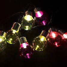 50 led multi coloured retro lights