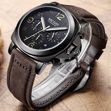 casual watches for mens best watchess 2017 megir chronograph casual watch men luxury brand quartz military sport genuine leather s wrisch 5 jpg