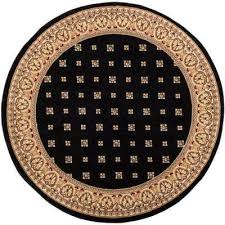 barclay hudson terrace black 8 ft traditional oriental border round area rug