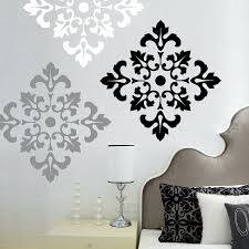 view photos of black and white damask wall art showing 2 15