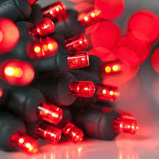 Battery Operated Red Led Lights 20 Red Battery Operated 5mm Led Christmas Lights Green Wire