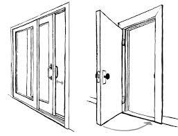 closed door drawing. Contemporary Door Open Door Drawing With Closed D