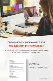 Graphic Designer Resume Tips A Creative Resume Example For Graphic Design Job Seekers
