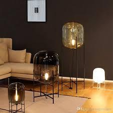 nordic post modern simple glass floor lamps creative standard lamp table lamps for living room bedroom bar restaurant ac110 220v glass floor lamp glass