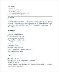 Hostess Job Resume 6 Hostess Resume Templates Pdf Doc Free Premium Templates
