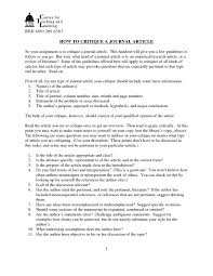 016 Apa Journal Article Critique 130531 Hypothesis In Research Paper