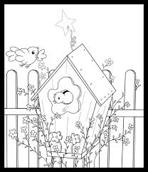 Small Picture Birdhouse Coloring Pages Free Printable Coloring Pages