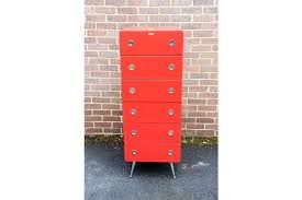 red lacquered furniture. Red Lacquered Furniture Air Tall Boy Chest Of Drawers With Chrome Accents Photo E