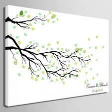 fingerprint canvas wedding fingerprint tree branch signature tree branch diy wedding party sign w010