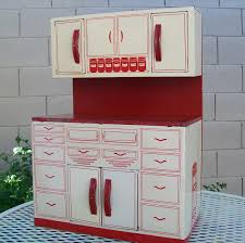 vintage kitchen sink cabinet. Vintage Wolverine Metal Kitchen Play Toy Red Cupboards S Cabinets For: Full Size Sink Cabinet