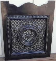 Antique Black Enameled Cast Iron Ornate Victorian Cut Out