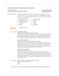 Assistant Teachers Assistant Resume