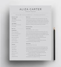 The Modern Resume Classy Creative Resume Template Minimalist Resume Resume Design Etsy
