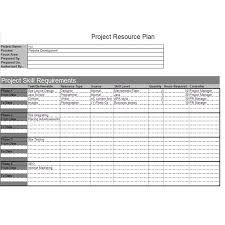 resource planning template co project resource plan example and explanation