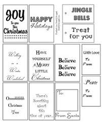 Free printable christmas tags in black and white. Color, ink ...