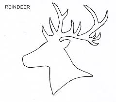 christmas card stencils 28 images of simple reindeer template learsy com