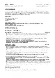 Sample Resumes For Entry Level Entry Level Accounting Sample Resume Objectives Profesional Resume 1