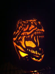 T Rex Pumpkin Carving Pattern