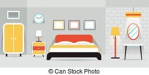 bedroom furniture clipart. bedroom furniture display panorama clipart