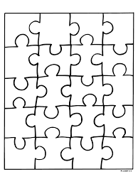 Kleurplaat Puzzelstukjes Kleurplatennl Handvaardigheid