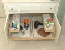 stylish and peaceful under sink drawers bathroom cabinet drawer storage exitallergy com