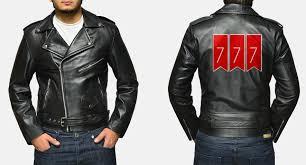 Leather Jacket With Design On Back Custom Christopher Williams Allaric Alley Black Leather Biker Ja