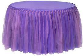 tulle tutu 21ft table skirt purple lavender