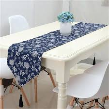 table runner for coffee table retro ethnic style printing table runner blue decorative pattern bed flag table runner for coffee