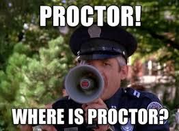 PROCTOR! Where is PROCTOR? Police Academy   80s Memes   Pinterest ... via Relatably.com