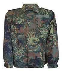 German Army Flecktarn Camouflage Field Shirt Large Short