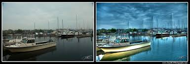 hdr photography before after. Delighful Before HDR Newport RI Boats In The Harbor This Photo Is A Before And After  In Hdr Photography Before After O