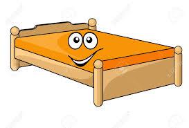 Comfortabele Cartoon Bed Met Een Kleurrijke Oranje Matras Met Een