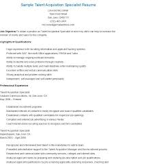 health and safety specialist sample resume Sample Talent Acquisition  Specialist Resume