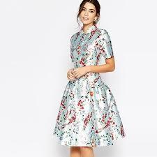 Romantic Elegant Retro Vintage Style <b>Floral Print Women's</b> Short ...