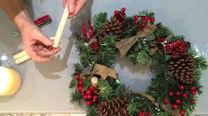 Pine Cone Candles Diy Put Candles On Xmas Wreath Adventkranz Youtube
