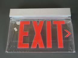 Lithonia Lighting Exit Signs Lithonia Lighting Exit Sign Lrp 1 Rc Ra 120 277pnl