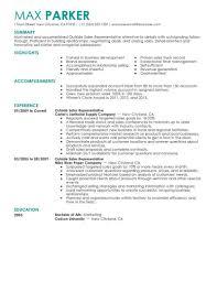 Sales Representative Resume Examples Outside Sales Resume Examples Best Outside Sales Representative 51
