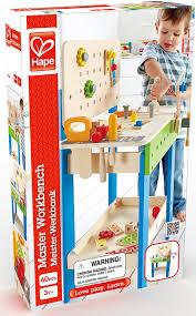 hape toys master workbench kid s wooden toolbench pretend builder set
