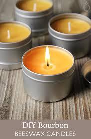 diy bourbon beeswax candles