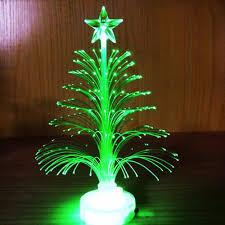 Mini Christmas Tree With Lights And Decorations Hot Item Mini Luminous Colorful Fiber Small Christmas Tree Light