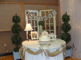 Burlap Decor Wedding Cakes With Burlap And Lace Burlap Sign That Went Behind