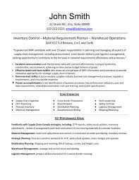 Inventory Control Resume Stunning Inventory Control Professional Resume Sample Template