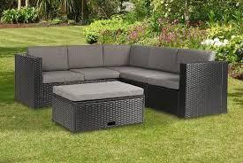 black rattan corner sofa set