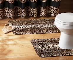 Cheetah Print Decor 2 Pc Leopard Print Bathroom Rug Set Acrylic Home Decor New I6310