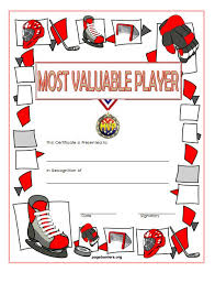 Most Valuable Player Award Certificate Free Printable 3