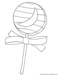 Halloween Lollipop Candy Free Halloween Coloring Pages To Print
