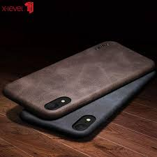 x level case for iphone xs xr luxury leather shockproof business vintage protective back cover case for apple iphone xs max leather cell phone cases phones