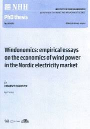 windonomics empirical essays on the economics of wind power  doctoral dissertation for the degree of doctor of philosophy