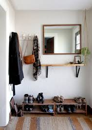 entrywaygoals when storage is tight and there s no coat closet in sight apartment therapy